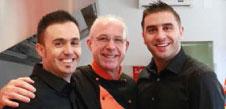 da sinistra: Luca Fazzi, Giovanni Zinna, Ibrahim Khoury
